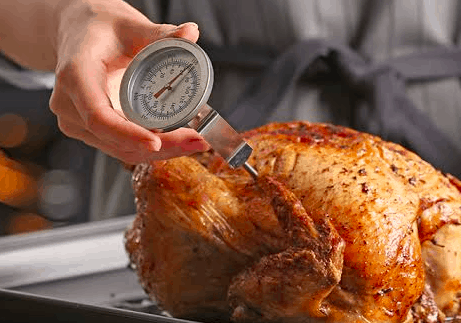 checking meat temperature