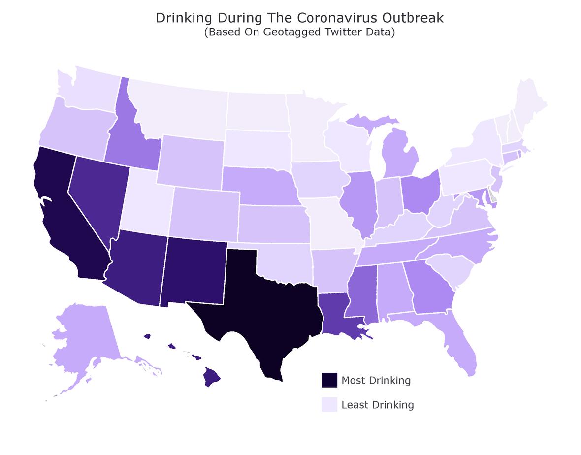 coronavirus drinking states