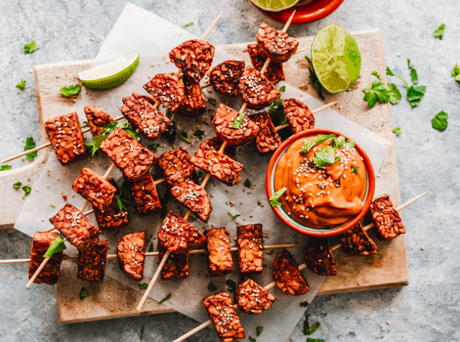 tempeh barbecue with veggies