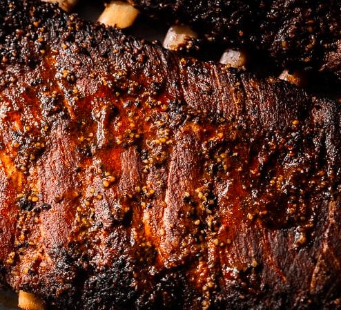 smoked rack of ribs