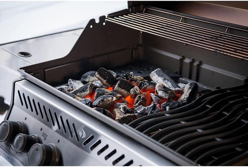 can you put charcoal in a gas grill
