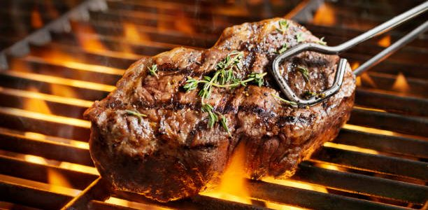 grilling steak tips